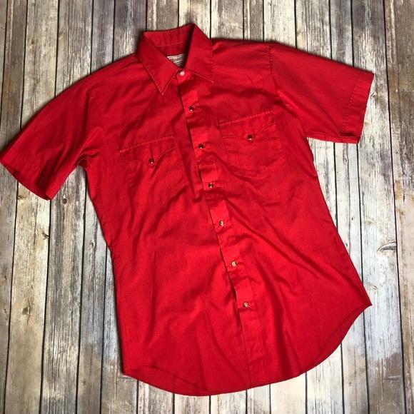 Vintage Other - Vintage HBarC California Red Ranchwear Shirt Top